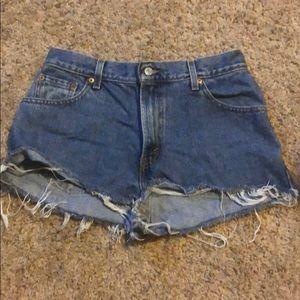 VINTAGE Levi's cutoff jean shorts 10M